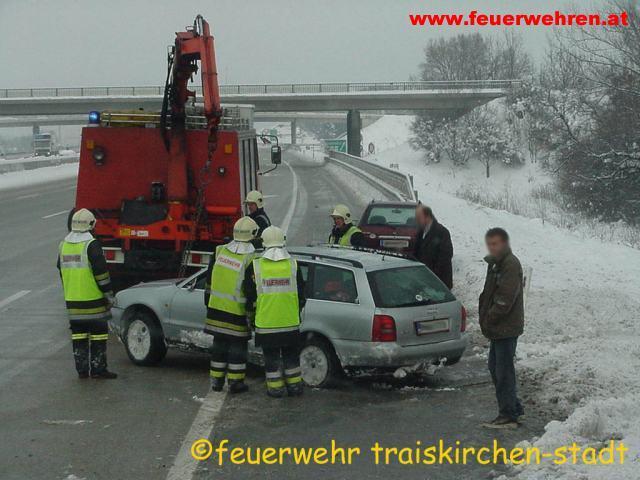 Verkehrsunfall A2 Richtungsfahrbahn Wien