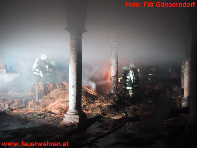 Großbrand in Schlosshof