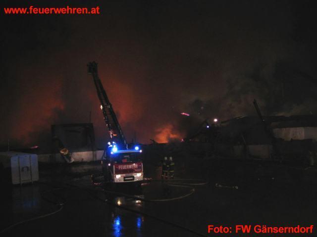 Großbrand auf der Mülldeponie Hohenruppersdorf
