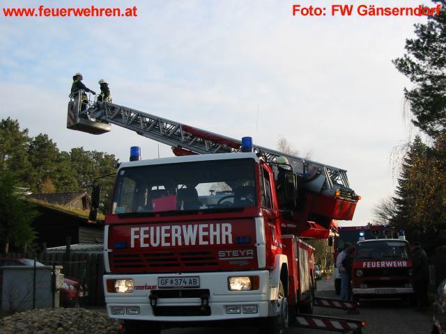 Kaminbrand in Gänserndorf Süd