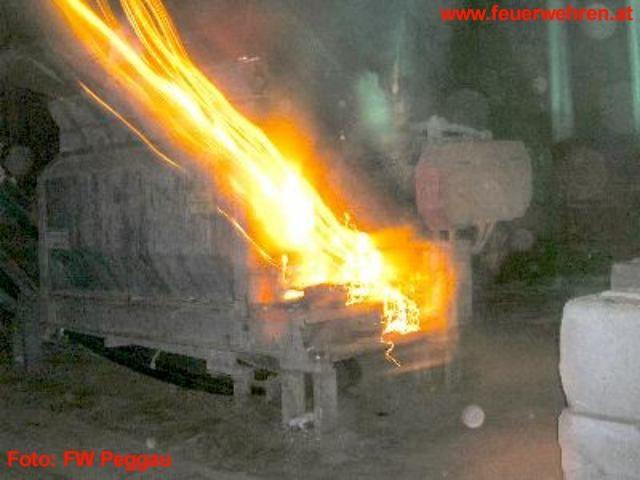 Kleinbrand eines Schredder, Übergriff der Flammen verhindert! 1