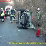 Menschenrettung nach Verkehrsunfall