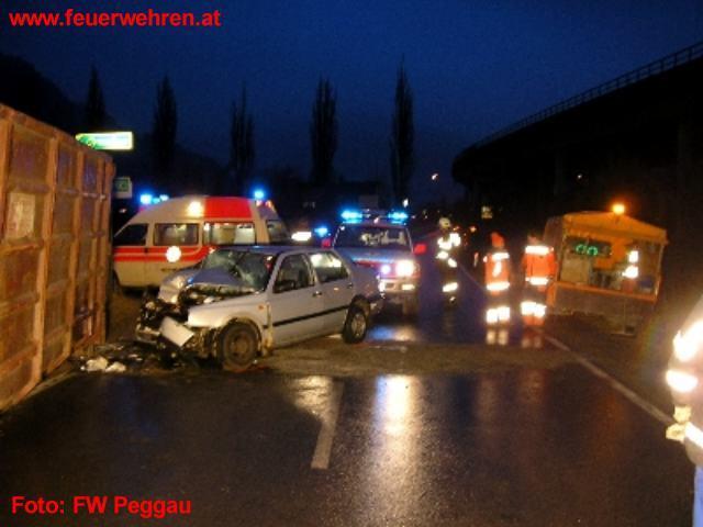 Verkehrsunfall mit einem LKW