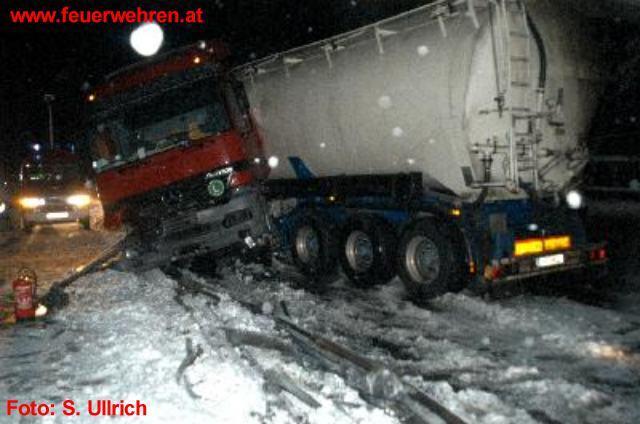 Neuschnee forderte die Feuerwehren von Graz-Umgebung