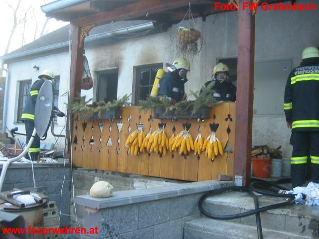 Küchenbrand in Grafenbach