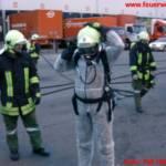 Gefahrenstoff in Logistikzone