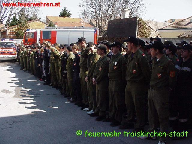Wissenstest der Feuerwehrjugend aus dem Bezirk Baden