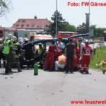 Verkehrsunfall PKW gegen LKW