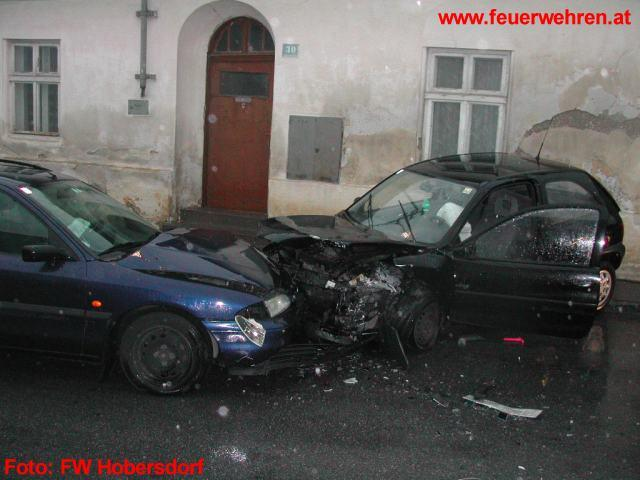 Verkehrsunfall in Hobersdorf