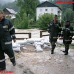 Hochwassereinsätze u. Murenabgang in Altaussee und Bad Aussee