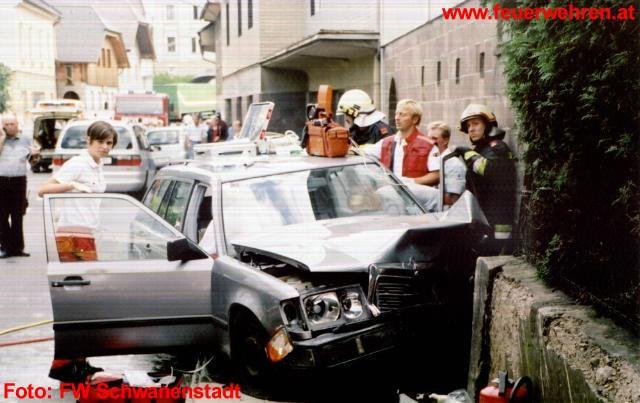 Schwerer Verkehrsunfall in Schwanenstadt