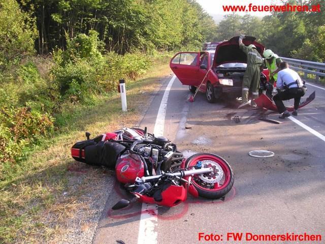 Schwerer Motorradunfall mit Todesfolge
