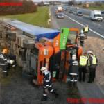 LKW-Unfall auf der Zubringerschleife zur A2
