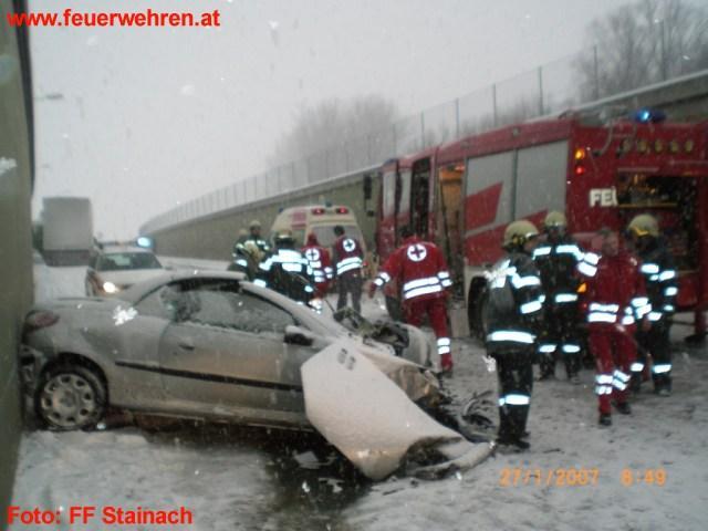 Schwerer Verkehrsunfall bei Stainach