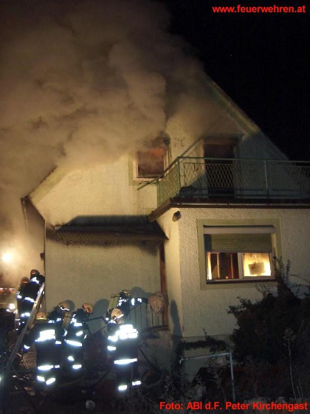 Wohnhausbrand in Pirka
