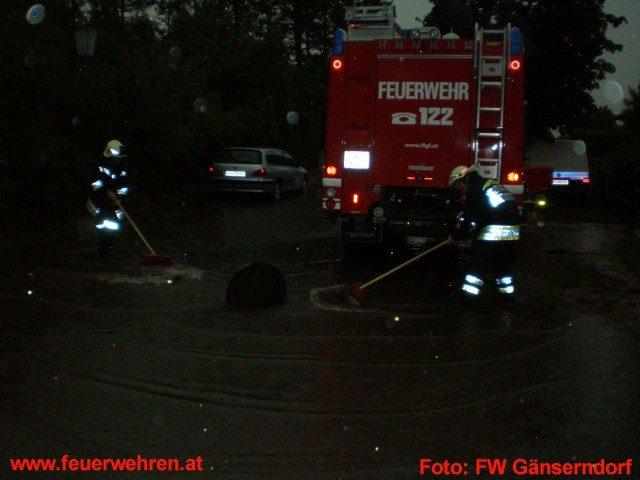 Unwetter im Bezirk Gänserndorf