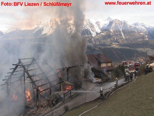 Großbrand in Rohrmoos: Abschnittsalarm