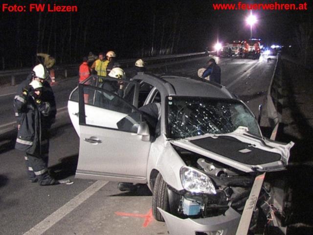 Tödliche Kollission auf Liezener Autobahnzubringer