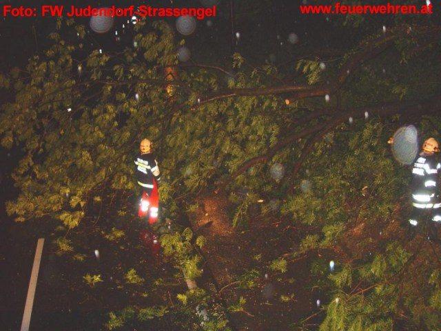 Schwere Regenfälle forderten die Feuerwehren in Graz Umgebung