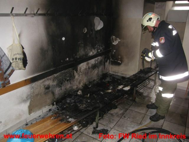 Brand in der Hauptschule