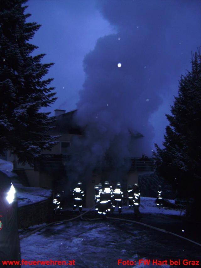 Garagenbrand in Hart bei Graz