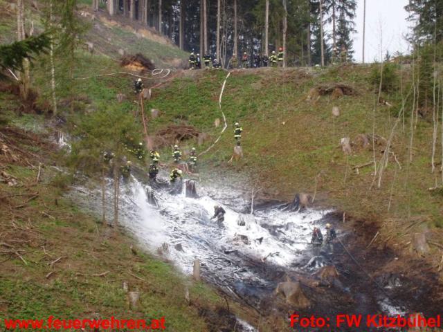 Waldbrand am Streifalmwald