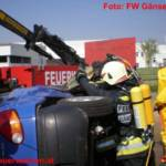 Einsatzübung: Schwerer Verkehrsunfall mit Gefahrengut LKW