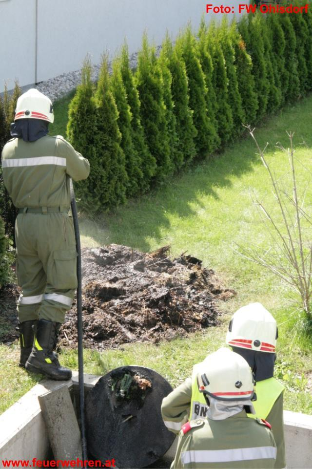 Komposthaufenbrand in Ohlsdorf