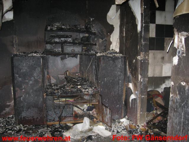 Wohnhausbrand in Gänserndorf
