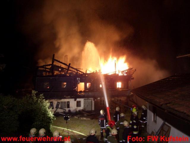 Großbrand in Schwoich