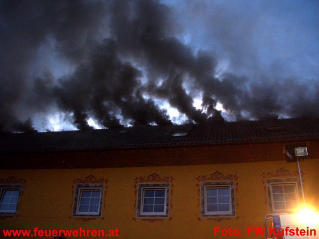 Gebäudebrand in Kufstein