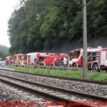 Holzhüttenbrand zwischen Judendorf und Graz