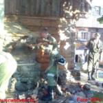 Brand durch offenen Kamin in Petersberg