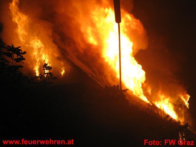 Großeinsatz für die Grazer Feuerwehr: Tischlereibrand in der Grazer Flurgasse