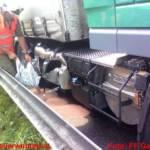 Ölalarm nach Lkw Unfall auf der A9
