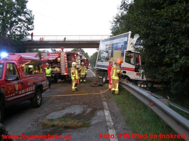Verkehrsunfall auf der Rieder Bundesstraße