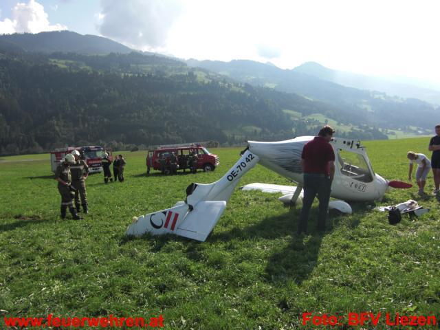 Flugzeug-Notlandung