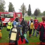BFK Gmunden: 100 Feuerwehrtaucher reinigten den Traunsee 11