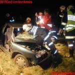 Verkehrsunfall mit Menschenbergung in Peterskirchen