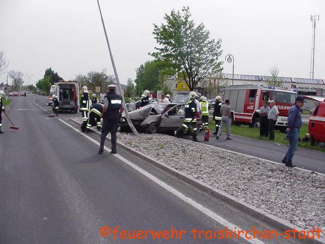 Verkehrsunfall auf der B17