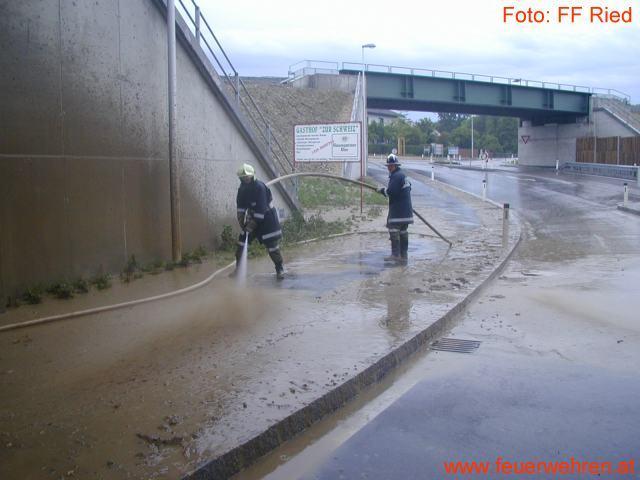 Überflutungen in Ried