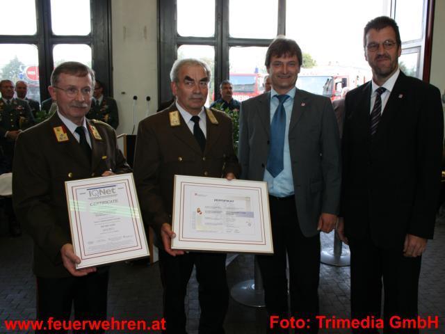 Qualitätszertifikat für die Landesfeuerwehrschule Oberösterreich