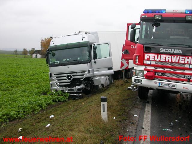 Verkehrsunfall im Ortsgebiet von Guntersdorf