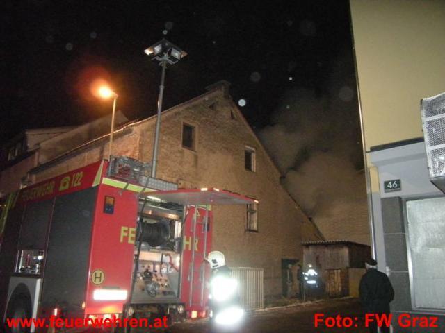 Brand eines Abbruchhauses in der Schippingerstraße