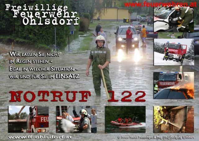 120 Einsätze der Ohlsdorfer Wehr im Jahr 2009