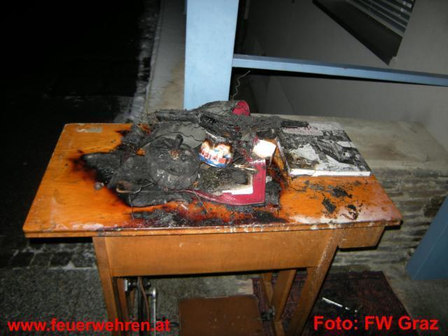 Feuerwehr rettete Frau aus brennendem Zimmer