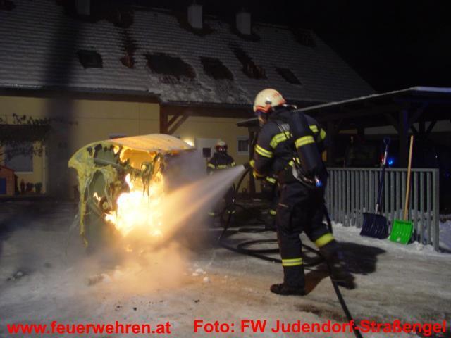 Brandeinsatz nach Brandstiftung