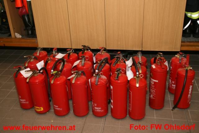 Feuerlöscherüberprüfung bei der Feuerwehr Ohlsdorf