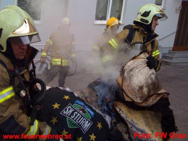 Zimmerbrand in Graz - Heimrauchmelder rettete jugendlichen Bewohner