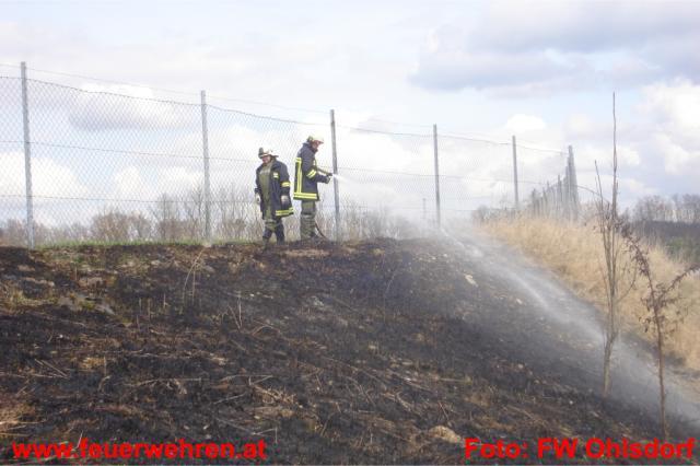 Böschungsbrand in Ohlsdorf rasch unter Kontrolle